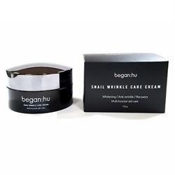 Разглаживающий крем для лица с муцином улитки - Snail Wrinkle Care Cream Began:hu - фото 7705