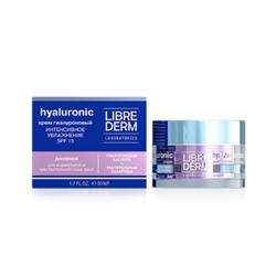 LIBREDERM/ Гиалуроновый крем Интенсивное увлажнение SPF15 дневной для нормальной и чувствительной кожи 50 мл - фото 7762