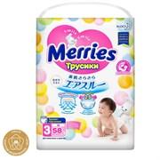 💚MERRIES / Трусики-подгузники для детей размер M 6-11кг, 58 шт