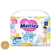 💚MERRIES / Трусики-подгузники для детей размер L 9-14 кг, 27 шт