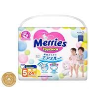💚MERRIES / Трусики-подгузники для детей размер XL 12-22 кг, 24 шт