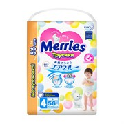 💚MERRIES / Трусики-подгузники для детей размер L 9-14 кг, 56 шт