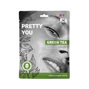ANGY/ Тканевая маска для лица тонизирующая,25мл - PRETTY YOU-GREEN TEA