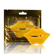 Коллагеновая маска для губ био золотом
