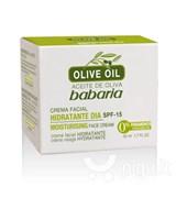 Babaria OLIVE MOISTURISER FACE CREAM/Увлажняющий дневной крем с оливковым маслом и SPF15
