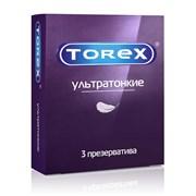 """Презервативы """"TOREX"""" Ультратонкие №3 (3шт)"""