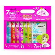 Подарочный набор 7 days Beauty-календарь с вырубным окном+вклейка пластика, 8 масок (mix)