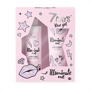 Подарочный набор 7 DAYS ILLUMINATE ME ROSE GIRL (молочко для тела+спрей для волос)