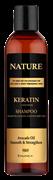 * HUNCA / Шампунь для волос комплексный уход с кератином Nature, 350 мл