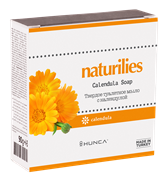 * HUNCA / Твердое туалетное мыло с календулой и витамином D Naturilies, 90 гр для очищения лица, тела